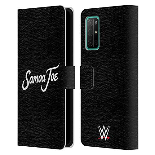Head Case Designs Officially Licensed WWE Logo Samoa Joe Leather Book Wallet Case Cover Compatible with Huawei Honor 30S