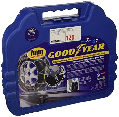 Goodyear 77957 Catene neve 7 mm per auto, Misura 120