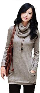 FIAN Bluson con Bufanda Moda Japonesa Asiatica para Mujer 04
