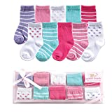 Luvable Friends Unisex Baby Socks Giftset, Pink 10-Pack, 0-9 Months