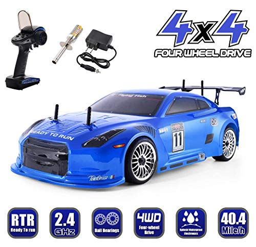 HSP 1:10 Scale High Speed 40Mile/h 4WD Off-Road RC Car 2.4Ghz Remote Control Car,Radio Controlled Off-Road Racing Car Vehicle Nitro Power Off Road Buggy