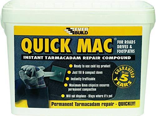 Nassboards Everbuild 25kg Quick Mac Instant Repair Tarmacadam, Easy to Apply,...