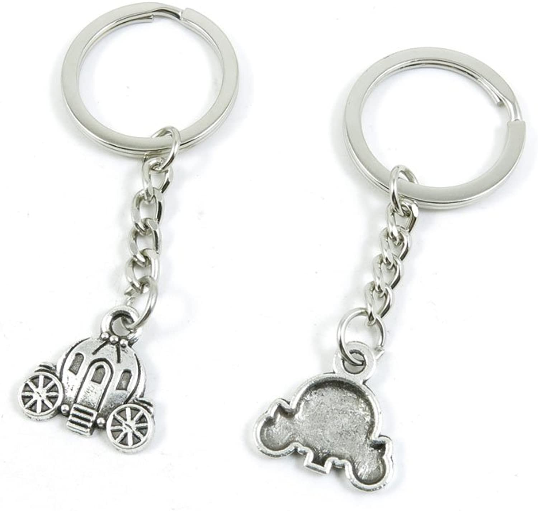 190 Pieces Fashion Jewelry Keyring Keychain Door Car Key Tag Ring Chain Supplier Supply Wholesale Bulk Lots R1HM1 Pumpkin golden Cart Car