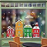 HENJIA Große Weihnachten Wohnkultur Weihnachtsmann Fenster Wandaufkleber PVC Vinyltapeten Mode Neujahr Raumdekoration
