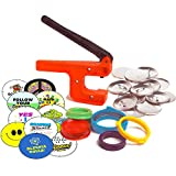 """Badge A Minit 2¼"""" Button Maker Starter Kit School Edition, Hand held Button Badge Press with Back to School Designs and Button Making Supplies"""