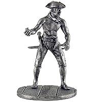 爆弾の海賊、17-18世紀。金属の彫刻。コレクション54mm(1/32スケール)ミニチュアフィギュア。ブリキおもちゃの兵隊