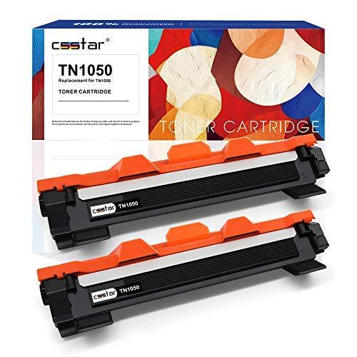 CSSTAR Compatibile Cartuccia di toner per Brother TN1050 TN1030 per HL-1210W HL-1110 MFC-1910W HL-1212W MFC-1810 DCP-1610W DCP-1510 DCP-1612W DCP-1512 Stampante, Nero