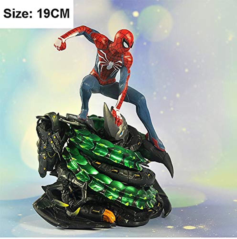 azione cifra Spideruomo modello Avengers bambola giocattolo Statue Decorazione della Casa Regalo di Compleanno di Htuttioween -19cm A