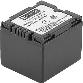 Amazon Com Synergy Digital Camcorder Battery Works With Panasonic Pv Gs80 Camcorder Li Ion 7 4v 1600 Mah Ultra Hi Capacity Compatible With Panasonic Cga Du14u Battery Camera Photo