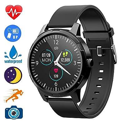 Lucky-M Smart Watch Fitness Tracker Smart Watch IP68 Waterproof Heart Rate Tracker Sleep Monitor, Step Counter, Activity Smart Sports Watch for Kids Women and Men (Black)