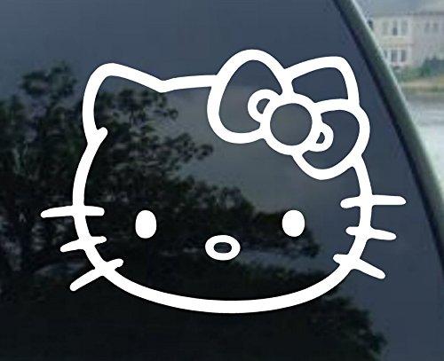 Window Vinyl Decal Sticker Hello Kitty Car Sticker (4' White)