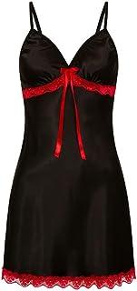Lenfesh Camisón para Mujer Suave Lencería de Dormir Sexy Mujer Talla Grande Camisola con Tirantes Ropa Interior Encaje de ...