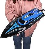 Deportes al aire libre Eléctrico 2.4G RC Barco de control remoto de alta velocidad 30 Km / H Carreras de alta velocidad Barco de remo para adultos y niños Piscinas y lagos 4 canales Buque submarino