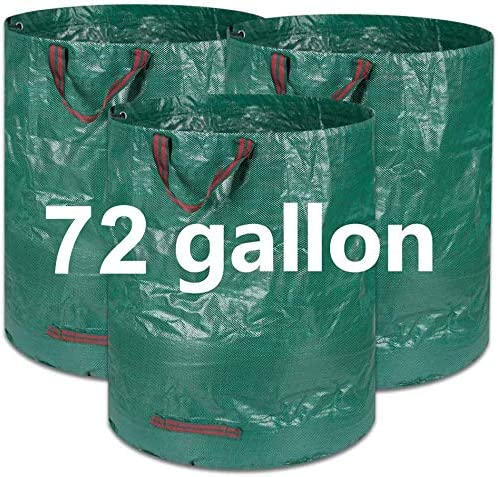 COCOCKA 3 Pack 72 Gallons Reusable Garden Waste Bags H30 D26 inches Heavy Duty Gardening Bags product image