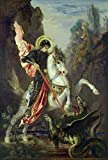 Berkin Arts Gustave Moreau Giclee Canvas Print Paintings Poster Reproduction(Saint George and The Dragon)