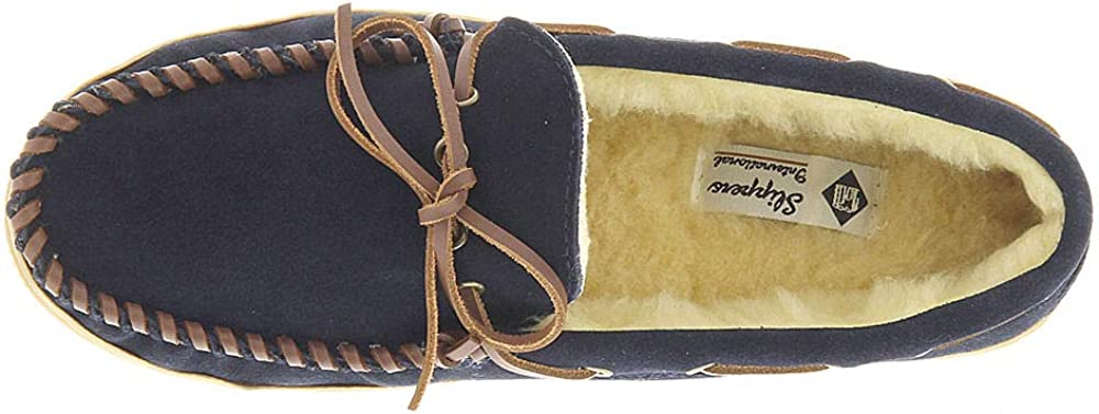 Slippers International Mens Handsewn Suede Leather
