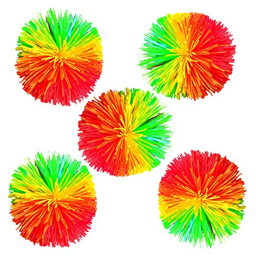 Toyvian 5 unids Bola de Colores Stringy Silicona rebotando Mullido Bola Que Alivia el estrés Ball Ball Office Stress Toys (al Azar)