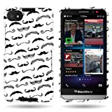 CoverON Slim Hard Case for BlackBerry Z30 with Cover Removal Tool - (Mustaches)