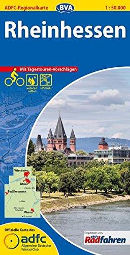 ADFC-Regionalkarte Rheinhessen mit Tagestouren-Vorschlägen, 1:50.000, reiß- und wetterfest, GPS-Tracks Download (ADFC-Regionalkarte 1:50000)