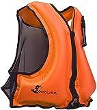 OMOUBOI Inflatable Snorkel Vest Kayak Inflatable Buoyancy Vest for...