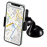 Universal Windshield Dashboard Car Cell Phone Holder Mount Long Arm Clamp Car Phone Mount with Clip Strong Suction Cup Compatible With iPhone Xs MAX Xs Xr X 8 7 7P 6s Galaxy S10 S9 S8 Google HTC
