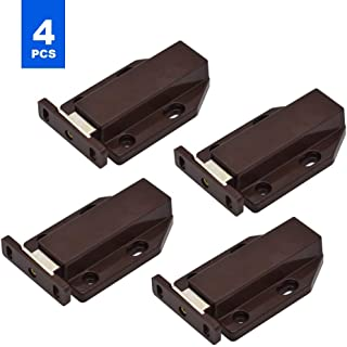 4 pcs Strong Magnetic Touch Catch Latch Push Magnetic Latches Magnetic Door Catch to Open ABS Brown for Large Door