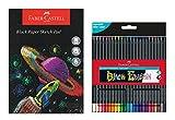 Stone Marketing Faber-Castell Kids Black Edition Creativity Pack – Bloc de papel negro A4 y 24 lápices de colores edición negra, ACTIVITYPK6