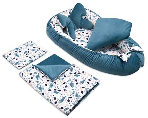 PIMKO - Protector de cuna para bebé (5 piezas, 90 x 55 cm), diseño de mariposas