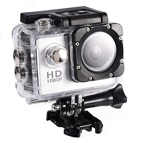 VBESTLIFE Action Cam Videocamera Subacquea Ultra HD Sport Action Camera Mini DV con Custodia Impermeabile da 7 Colori(Argento)