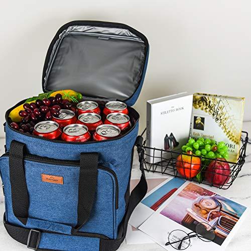 Freshore断熱ワインキャリアー6ボトルバッグトートバッグ-キャンバスケースを調節可能なショルダーストラップ-(スペースグレー)