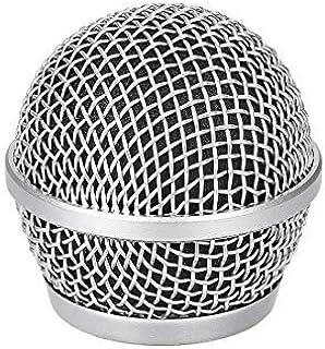 na Micrófono con Cabeza de Bola, Rejilla de Malla, Parabrisas de Metal con Filtro de Espuma Interior Negro para PG48 PG58 ...