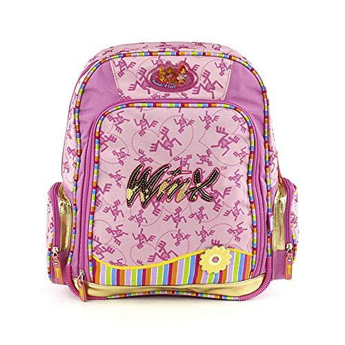 Target Winx Club #2 Friends 4 Ever Mädchen Schulrucksack Mochila Infantil, 39 cm, Rosa (Rosa/Gelb)