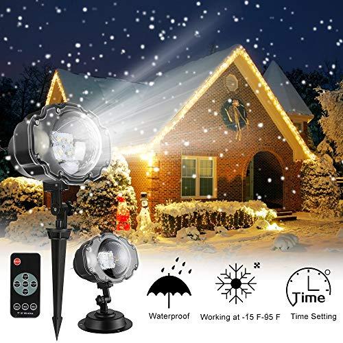 Projector Lights, Christmas Snowfall Projector Lights, IP65 Waterproof Rotating...