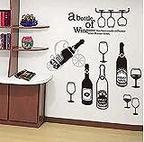 BLOOM Vinilo Decorativo Vinoteca para cafeterías cocinas comedores restaurantes Tiendas vinos y Delicatessen Pub.áticos Tipo Loft con Azulejos o Vidrio 1.40 x 70 cm