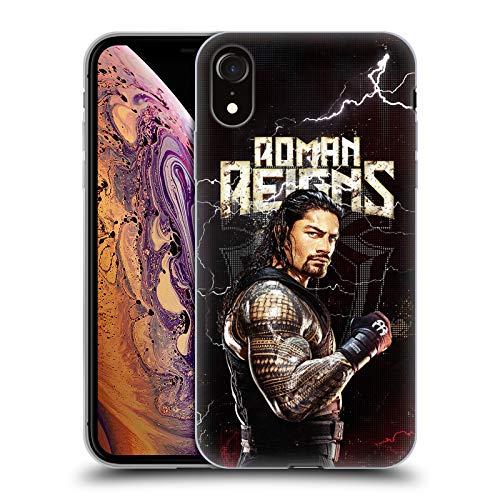 Head Case Designs Offizielle WWE Roman Reigns Superstars Soft Gel Handyhülle Hülle Huelle kompatibel mit Apple iPhone XR
