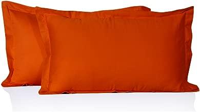 """MISR 300 TC 100% Cotton 2 Piece Cotton Pillow Cover Set,Pillow Case 17""""x 27""""Orange"""