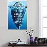 Eisberg Des Erfolgs Leinwand Poster Landschaft Motivations