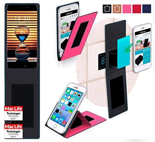 reboon Hülle für Meizu Pro 7 Plus Tasche Cover Case Bumper   Pink   Testsieger