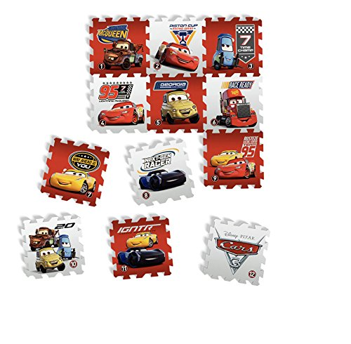 Tatamiz ttmz211Disney Cars–Alfombra Puzzle Espuma de 12Piezas