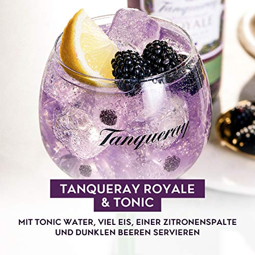 Tanqueray Blackcurrant Royale Distilled Gin – Ideale Spirituose für Cocktails oder Gin Tonic – 1 x 0,7l - 5