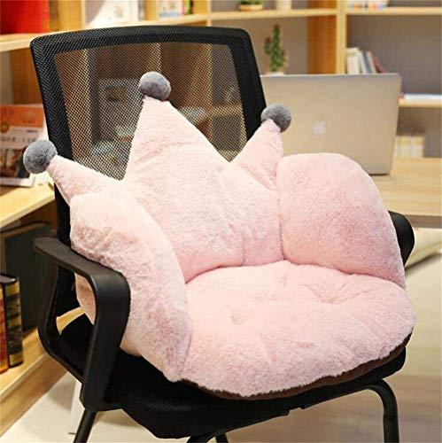 Corona Soft Office amortiguador de la felpa comodidad de los asientos del cojín del asiento cálido y acogedor almohada Butaca asiento de soporte alivia el coxis ciática y el alivio del dolor en el cóc