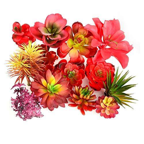 HUIJUNWENTI Roter künstliche Succulents Bonsai Plant Artificielle Weihnachten Hochzeit Badezimmer Home Garten Tischdekoration Künstlich Pflanzen (Color : Da Xian Ren Zhi)