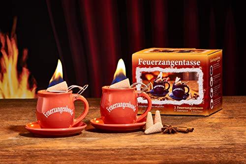 Feuerzangentasse 2er-Set, Terracotta - für Feuerzangenbowle