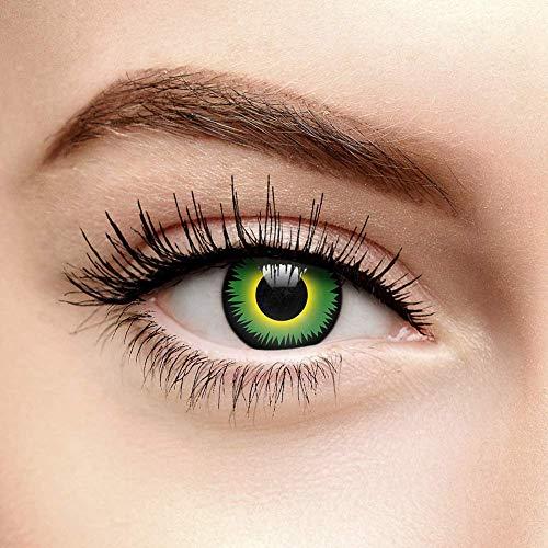Chromaview Halloween Farbige Kontaktlinsen Ohne Stärke Werwolf Grün (30 Tage)
