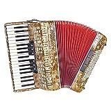 M-zutx 37 touches 96 Basse Accordéon 7 Accordeurs Clavier 3 Accordeurs Basse Accordéon Piano Adulte Débutant Jouer Ensemble Accordéon Instrument de Performance Instrument de Performance Solo