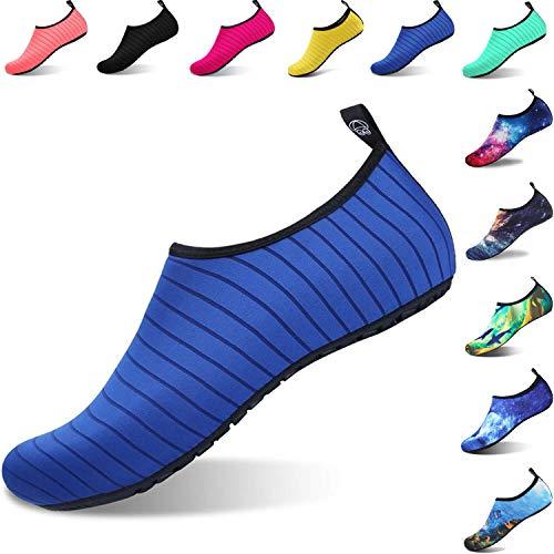 ziitop Męskie buty do kąpieli, buty do wody, damskie, buty plażowe, szybkoschnące, oddychające, antypoślizgowe, buty do wody, buty do surfowania, dla mężczyzn i kobiet, - Blue1801 - 36/37 EU