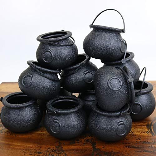 GIFTEXPRESS 12 Pack Mini Cauldron Kettles, Novelty...