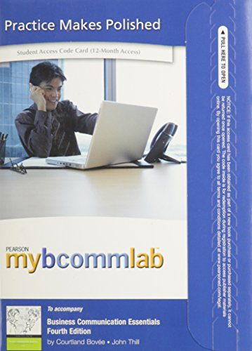 MyBCommLab with Pearson eText -- Access Card -- for Business Communcation Essentials (12-month access)