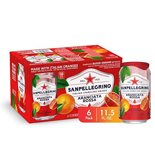 Sanpellegrino Blood Orange Sparkling Fruit Beverage Cans, 11.15 Fl Oz, Pack of 6