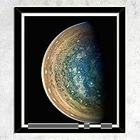 テーマ - 木星南極,木枠壁画、壁飾り画、版画、壁のポスター、家の装飾、壁の装飾、部屋の装飾(38x31CM)「額縁つき」